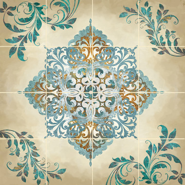 French Winter Decorative Tile Mural