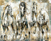 Artistic Ceramic Horse Tile Mural for Sale