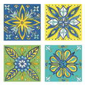 Caribbean Back Splash Tile Set, Custom Ceramic Tile Accents