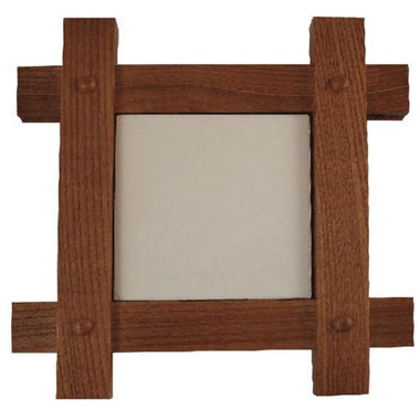 Cross Corner Mission Style Frame for 6 inch tile
