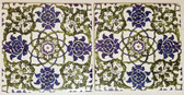 Two Syrian Backsplash Tiles 6""