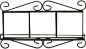 "Black Iron Spice Shelf Frame For Three 4.25"" Tiles"