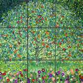 apple tree artistic tile mural