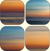 beach sunset coaster set