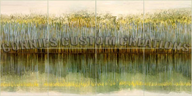 abstract river bank decorative tile mural by connies custom creations