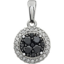 Beautiful 14k solid white gold genuine diamonds halo-pendant featuring 3/8 ct. tw. diamonds. Perfect for all occasions, elegant and versatile and polished to a brilliant shine.