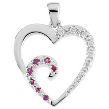 "Quote from Scripture: ""Her children stand and bless her."" Proverbs 31:28 The diamonds grow bigger on the heart just as our love grows each step of the way with our child. The pink sapphires represent the love that is given back to us."