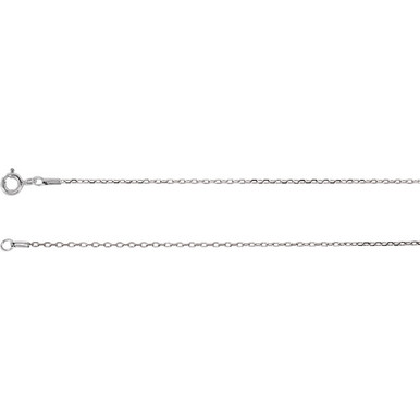 A classic look that complements any attire, this diamond-cut cable chain is a terrific every day option. Fashioned in 14K gold, this 0.80mm cable chain is a great look alone, pair this chain with your favorite charm to create a personalized pendant. Polished to a brilliant shine.