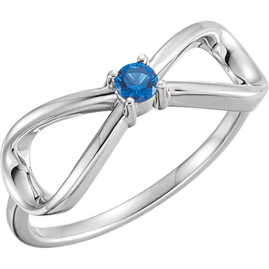 Celebrate Family together with our Personalized Jewelry Collection. This Infinity style Mother-Family Gemstone Ring can be personalized with up to 5 beautiful round gemstones. Set your loved ones' birthstones on this ring and hold them with you forever.