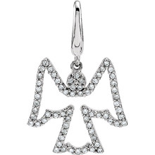 Just heavenly! Create a look all your own by adding this diamond angel charm crafted of 14K white gold in 1/3 ct. tw. to your favorite chain (sold separately).
