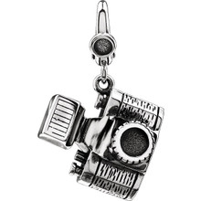 Photography is a window to the world around us. Wear your passion with pride with this sterling silver camera charm. Polished to a brilliant shine!