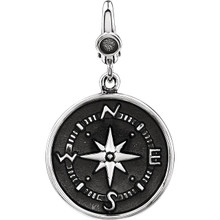 The compass carries special meaning for those who wear it. Perhaps it's a reminder of camping or traveling, or it represents the direction life takes you, or even a romantic symbol to always find a way to the one you love.