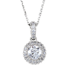 "This artfully designed 3/4 ct. tw. round cut diamond 18"" entourage necklace in platinum is just what you were looking for. Thrill friends and family with this exceptional necklace. Simple yet seductive, this piece shines with round cut diamond. This necklace is surely designed to impress."