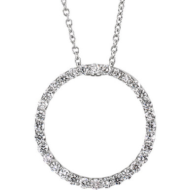 Diamonds are a girl's best friend, but any woman who gets this necklace is sure to be your best friend and love you forever! With 32 dazzling diamonds weighing 1/2 cts tw, this platinum necklace is a great choice whenever you want to make the special woman in your life cry with happiness.