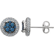 Beautiful 14k solid white gold genuine diamonds halo-styled cluster earrings featuring 1/2 ct. tw. diamonds (H-J color, I3 Clarity).  They are perfect for all occasions, elegant and versatile. You will never want to leave home without them.