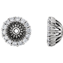 Add beauty to your studs by wearing them with these attractive earring jackets. These twenty four round brilliant cut diamonds of 1/8 ct. (Tw.) are set in 14k white gold to fit your sparkling studs. (Studs not included).