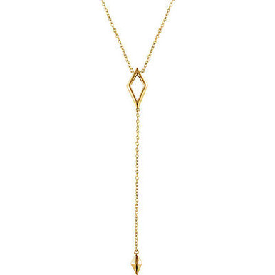 "Great looking 14k yellow gold geometric 16-18"" adjustable necklace. Total weight of the gold is 1.56 grams."