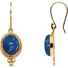 Add something unique to your style with these classic lapis earrings which have an approximate weight of 1.36 grams. They make for a great anniversary, birthday, or weddings day gift.