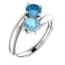 A Timeless Treasure and Style Classic, our rings are always fit for any occasion. Beautifully crafted and designed our Aquamarine and Topaz ring is sure to win your way into her heart.