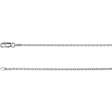 A classic look that complements any attire, this cable chain is a terrific every day option. Fashioned in 14K gold, this 1.50mm cable chain is a great look alone, pair this chain with your favorite charm to create a personalized pendant. Polished to a brilliant shine.
