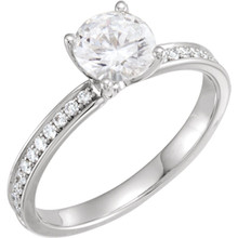 With Forever One™, Charles and Colvard created an exclusive series of pure, colorless moissanite. This stunning achievement required the development of highly refined technologies. Forever One offers you the ultimate choice for bridal and fine jewelry — one that costs only a fraction of a comparable diamond.
