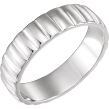 This 14k White Gold Ladies's Wedding Band with its simple yet elegant design will definitely bookmark your sublime memories of that very special day beautifully. Classic 14-karat gold is the most popular type of gold for it's beauty and durability.