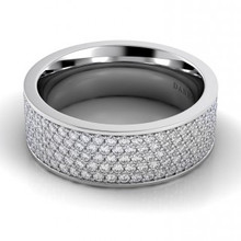 Created with exceptional precision and design, this wedding band is designed to perfectly complement the exquisite engagement ring - marking the couple's first step toward a life together. Danhov Eleganza braided wedding band featuring a unique design. This ring is designed by Danhov, who is an award winning bridal jewelry designer, specializing in hand-made unique and timeless designs.