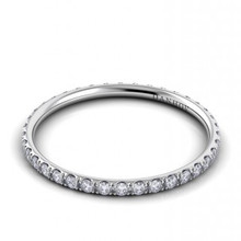 Shop this gorgeous shared prong diamond eternity band...looks great worn next to your engagement ring or wear it with some stacking rings!      Diamonds .36ctw     F-G color, VS1 clarity     Available in 14k or 18k white gold, or platinum     Setting measures 1.5mm W x 1.5mm H