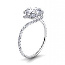 Shop this award winning style by jeweler designer Danhov - the ultimate in bridal. The signature swirl pattern makes for a unique and romantic proposal, a ring she will treasure for years to come.