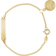 14k Yellow Gold Angel Child's ID Bracelet. 4 1/2 Inches