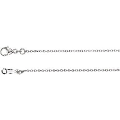 Strong, durable and attractive, this cable chain is heavy chain having links with a crossbar across the inside of each link. Finely crafted from platinum, this chain offers a stunning presentation that is suitable for any occasion.