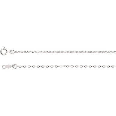 This 14K gold cable chain is available from 16, 18, 20 and 24 inches in length, perfect for accommodating a range of styles. The necklace is secured with a spring ring clasp.