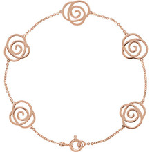 Express your style through this beautiful bracelet in 14k rose gold. Polished to a brilliant shine.