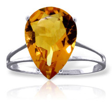 All eyes will be on your gorgeous hands when you hold that Cosmopolitan and this ring reflects in the candlelight of a cocktail party or dinner date that you have so looked forward to. This 14K gold Ring with Natural Citrine features a showy pear shaped five carat Citrine gemstone that is faceted just right. The stone is set on a unique, airy, 14K gold band. Measuring 27.9mm in height and 14mm in width, this ring will be a real conversation piece. Grab it now so it will be ready and waiting for your next big event.