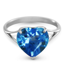 Natural Blue Topaz 10 mm Heart Gemstone Solitaire Ring in your choice of 14K White, Yellow or Rose Gold. This ring makes an amazing gift for that special someone.