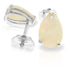 The multicolored opalescence of Opal has no equal in the world of gemstones. Throughout the ages, Opal has mystified people with its ability to catch the light and reflect back many colors. You can enjoy this amazing stone with your own pair of 14K gold Stud Earrings with Natural Opals. Each earring features a 1.55 carat pear shaped Opal gemstone. These stones are set in a stud crafted of 14K gold. This is a pair of earrings that you will want to own forever. That's a good thing, because these babies will LAST for a LIFETIME.