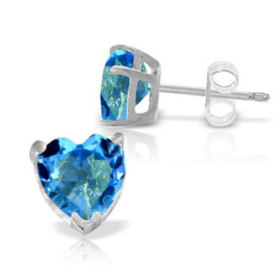 Looking for the perfect gift for that loved one celebrating their birthday in December? Look no further than these stunning 14k solid gold stud earrings with natural blue topaz. The beautiful and bright stone of December is showcased brilliantly while adding subtle elegance to any ensemble. Two stunning natural stones add over three carats of dazzling sparkle to the earlobes, while the beautiful heart shape is a feminine look that every woman will love. The prongs and post are made of high quality 14k solid gold to give them a rich and elegant look, while friction push backs hold them delicately in the earlobes.