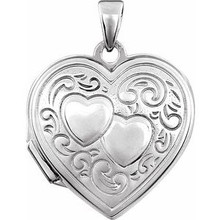 Carry loved ones close with this oval locket crafted in sterling silver.