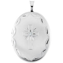 Choose this oval locket to complement her stature.