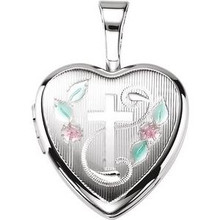 A sweet look, this locket is perfect for the one you love.