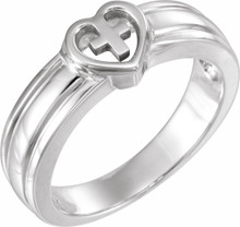 Let your faith be the center of your life, as this symbolic sterling silver ring implies.