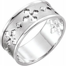 This pierced cross ring adds a touch of nature-inspired beauty to your look and makes a standout addition to your collection. It fits your lifestyle and perfect piece for any outfit. It adds a gorgeous/sophisticated/stylish glow to any outfit and show off your trendsetting style when you wear this.