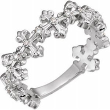 A special symbol of her faith, this diamond cross ring is sure to be a treasured favorite.