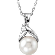 Product Specification  Jewelry State: Complete With Stone  Stone Type: Cultured Pearl  Size: 06.00  Stone Shape: Round  Stone Quality: AA  Length: 18.00 Inch  Type: Solid Rope Chain In 14K Yellow or White Gold  Weight: 0.80 grams  Finished State: Polished