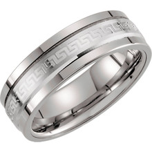 Product Specifications  Brand: Dura Tungsten  Quality: Tungsten 14K White Gold  Ring Width: 07.00 mm  Ring Size: 10.0