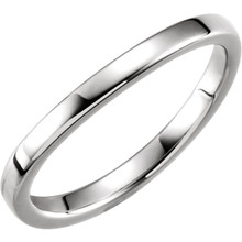 Product Specifications  Quality: Platinum  Length: 01.65 mm  Width: 02.27 mm  Jewelry Material Type: Platinum Cobalt  Weight: 4.09 Grams  Series Description: Ladies Stackable Wedding Band
