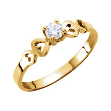 Youth Ring 3.00mm Cubic Zirconia In 14K Yellow Gold. Each comes with its own pad, box, tote bag and signature card.
