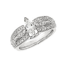 Product Specification  Quality: 14K White Gold  Jewelry State: Complete With Stone  Total Carat Weight: 1/3  Ring Size: 07.00  Stone Type: Diamond  Stone Shape: Round  Stone Color: H-I  Stone Clarity: SI1-SI2  Width: 8.5 mm  Weight: 3.79 grams  Finished State: Polished