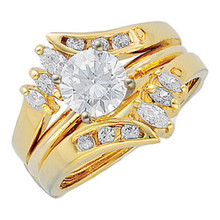 Product Specification  Quality: 14K Yellow Gold  Jewelry State: Complete With Stone  Total Carat Weight: 3/8  Ring Size: 06.00  Stone Type: Diamond  Stone Shape: Round & Marquise  Stone Color: G-H-I  Stone Clarity: SI2-SI3  Weight: 4.91 grams  Finished State: Polished