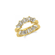 Product Specification  Quality: 14K Yellow Gold  Jewelry State: Complete With Stone  Total Carat Weight: 1  Ring Size: 06.00  Stone Type: Diamond  Stone Shape: Round & Baguette  Stone Color: G-H  Stone Clarity: SI2-SI3  Width: 13.25 mm  Weight: 6.11 grams  Finished State: Polished
